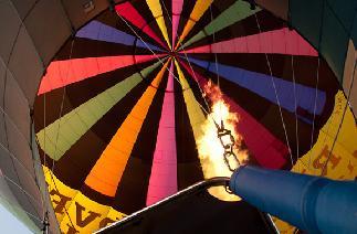 ballonvaart vanop een evenement