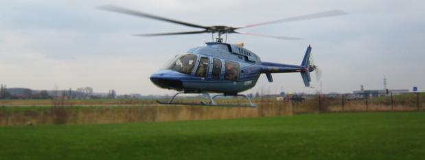 helikopter op uw bedrijf