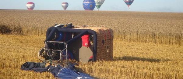 landing ballonvlucht